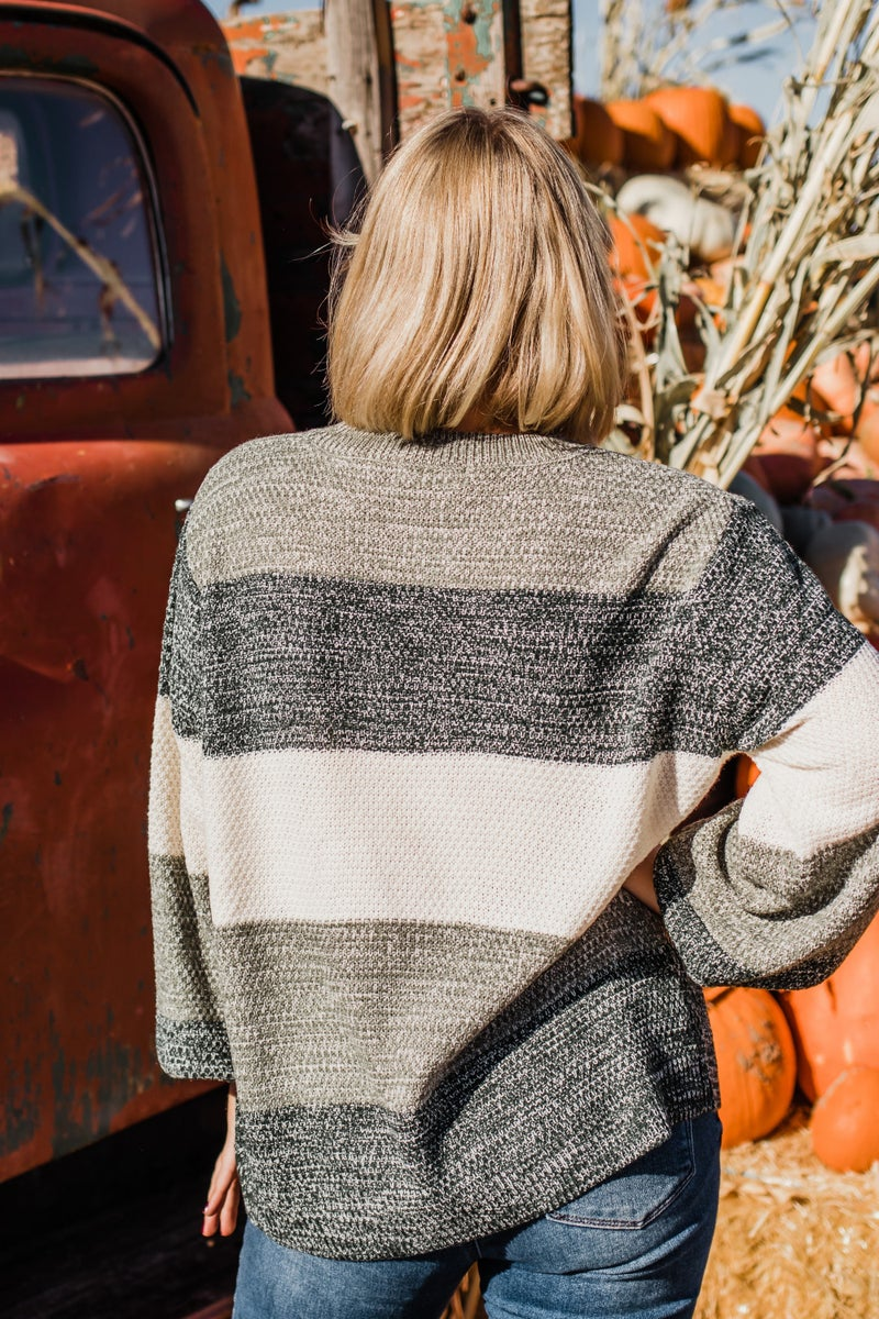 Color Block Knit Top