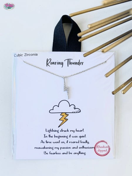 .Lightening Bolt Roaring Thunder Necklace