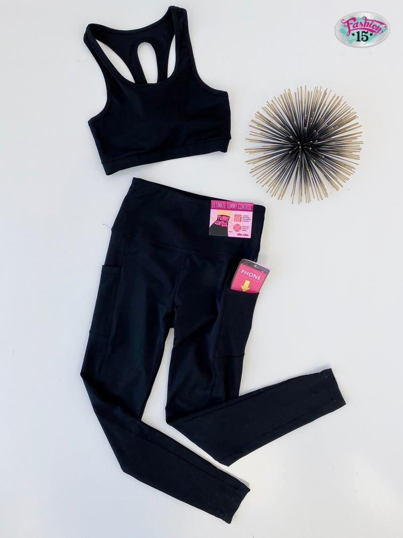 Black Activewear Set