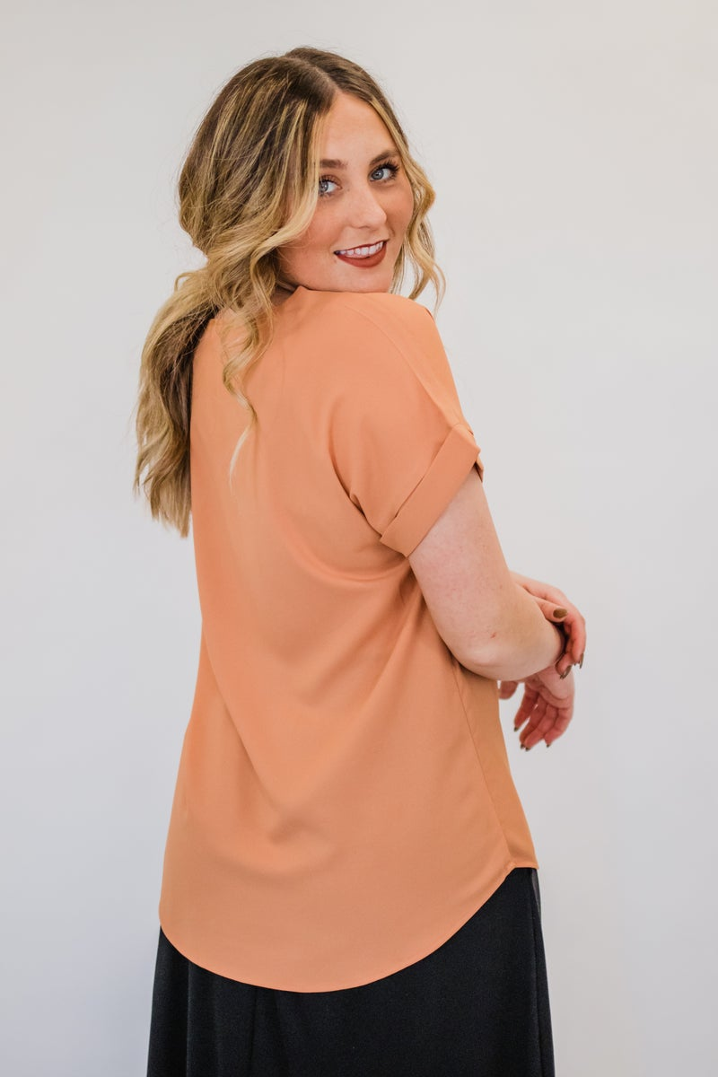 ~Solid Short Sleeve Top