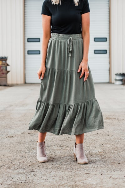 Tiered Maxi Skirt