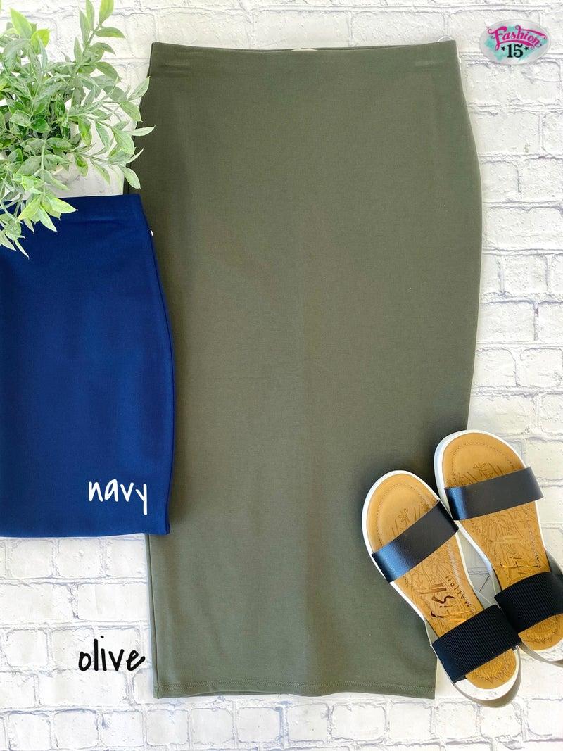 Midi Ponte Skirt