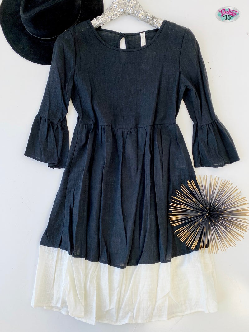 .Black & Ivory Dress