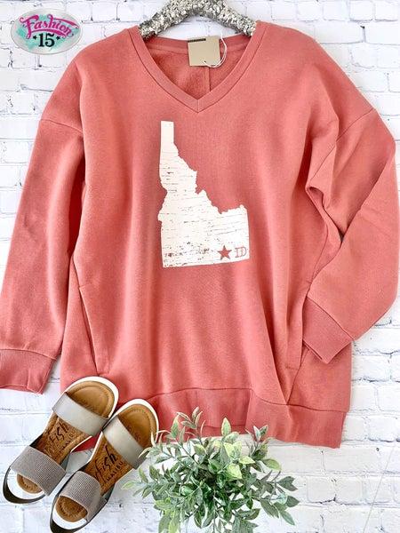 Plus Rose Idaho Star Sweatshirt