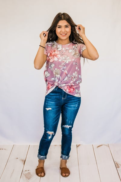 ~Lilac Floral Top