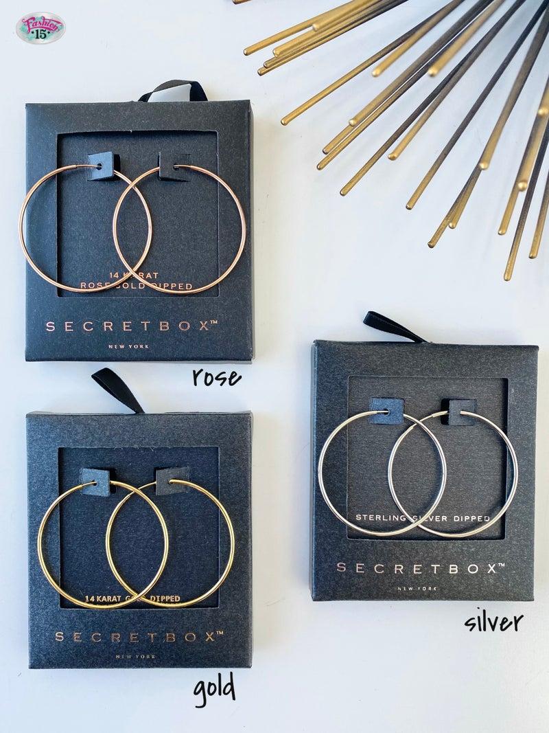 .Gold Dipped Thin Hoop Earrings