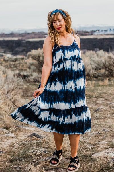 Plus Tye Dye Midi Dress