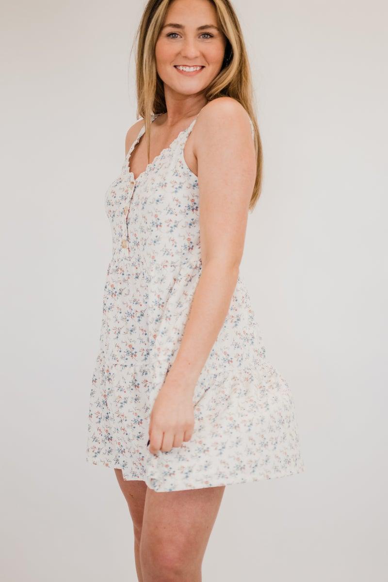 Floral V-Neck Tunic Dress