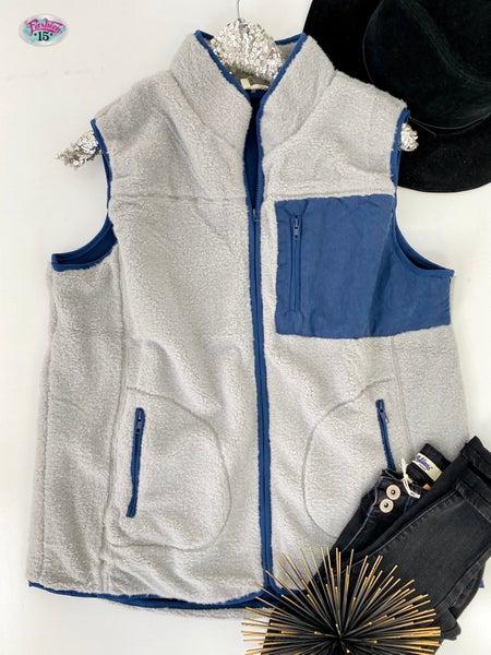 ~.Navy Super Soft Vest