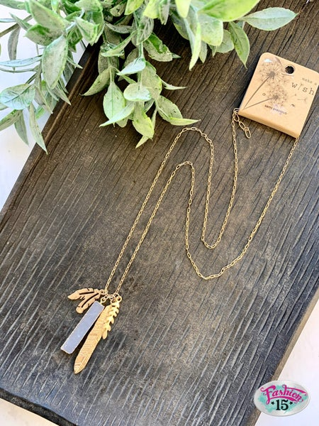 Gold Necklace w/ Leaves