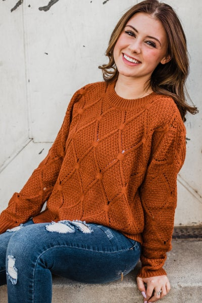 Rust Knit Top