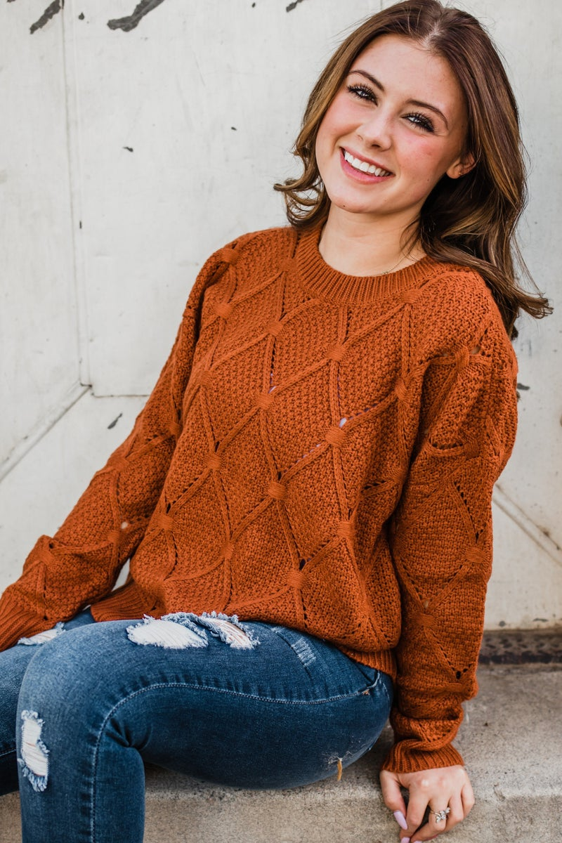 Rust Knit Top