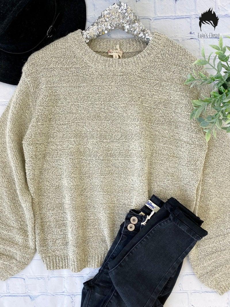 Ivory & Black Knit Top