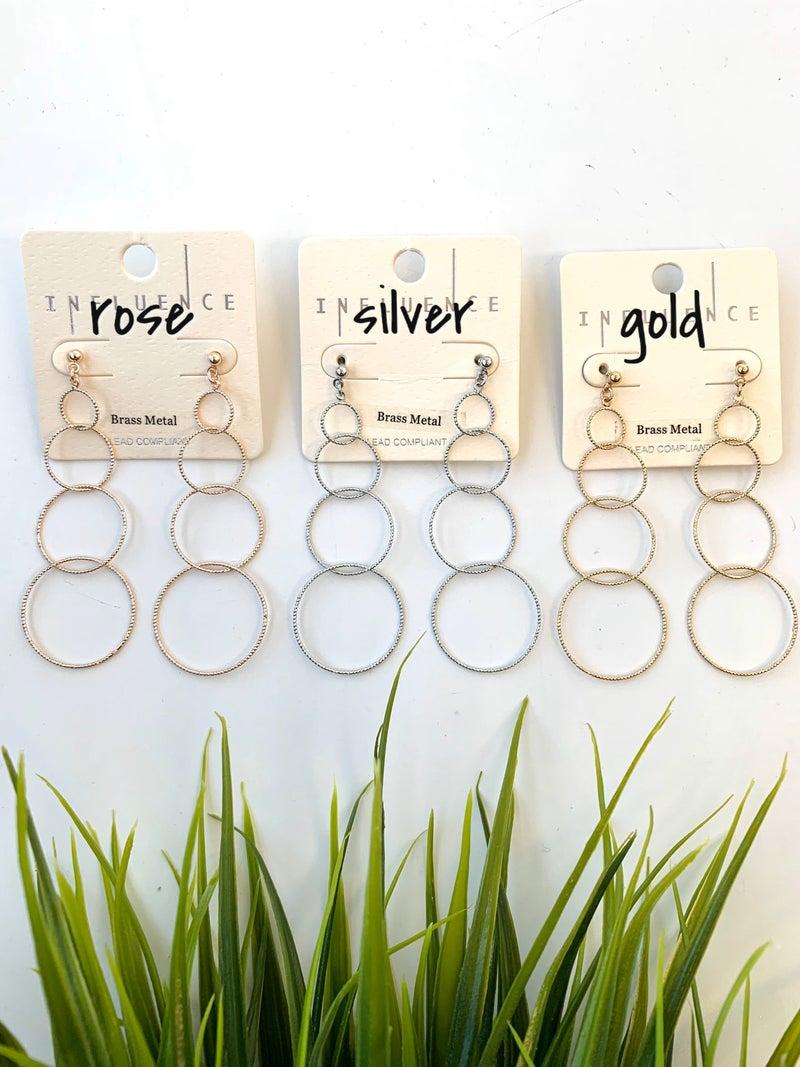 Circle Dangle Earrings