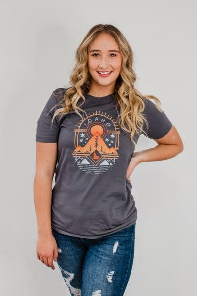 Ash Grey Idaho Tribal Top