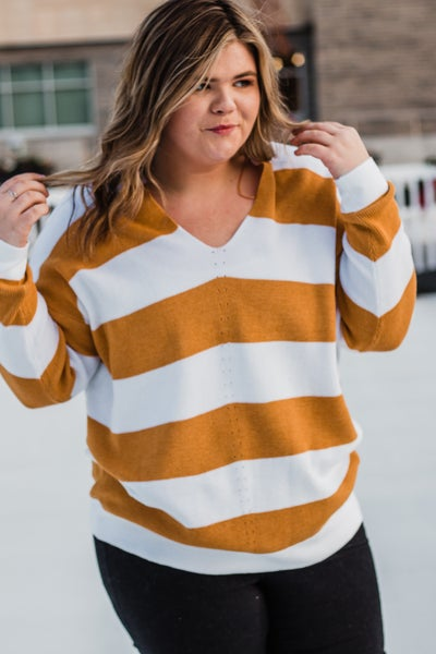 Plus Striped Top