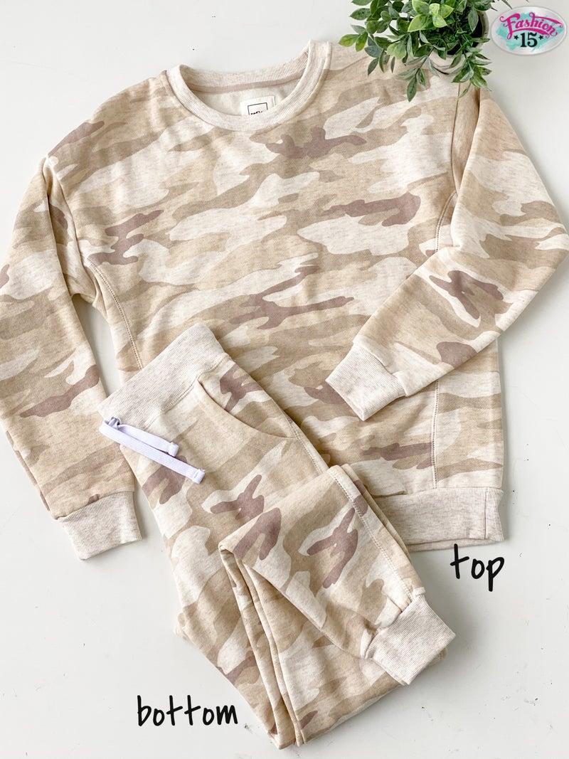 Beige Camo Loungewear