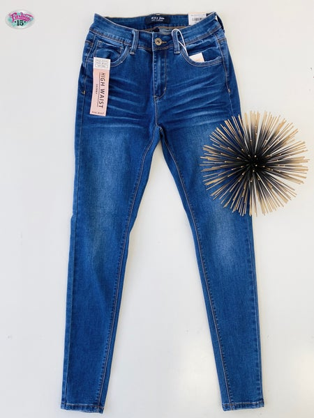 ~High Waisted Skinny Denim