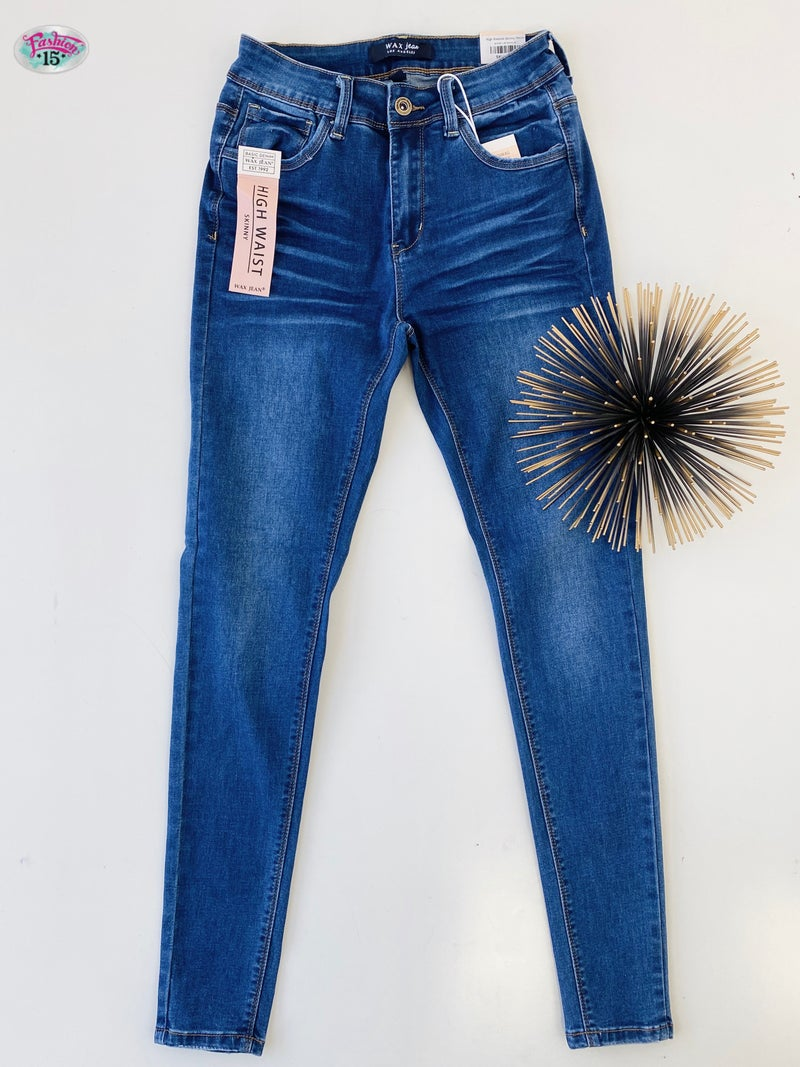 .High Waisted Skinny Denim