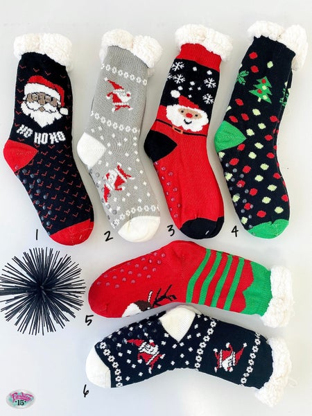 .Fuzzy Christmas Winter Slipper Socks *Final Sale*