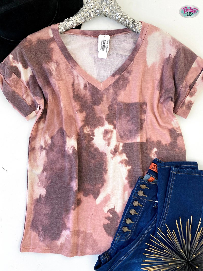 .~Mauve Tye Dye Top