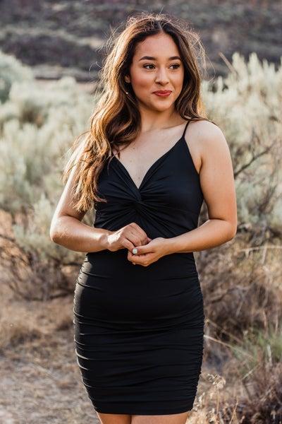 Black Dress w/ Ruching