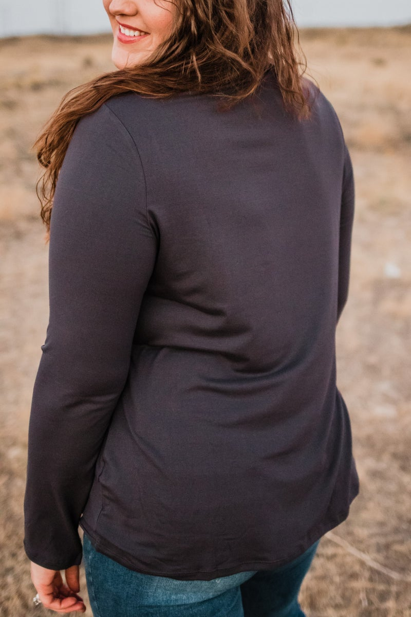 Plus Buttery Soft Mock Neck Top