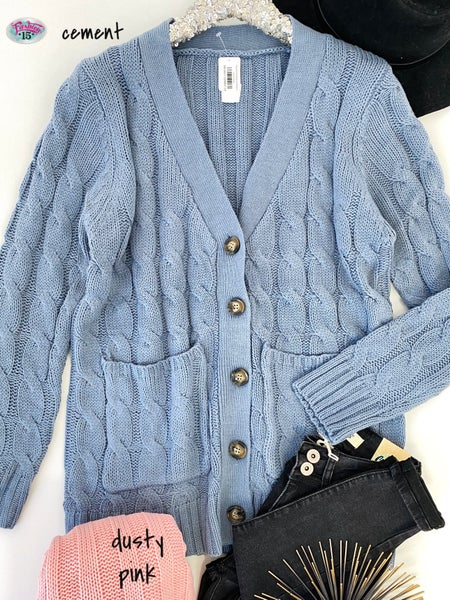 .Plus Knit Cardigan w/ Buttons