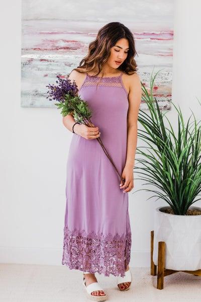Slip Dress w/ Lace