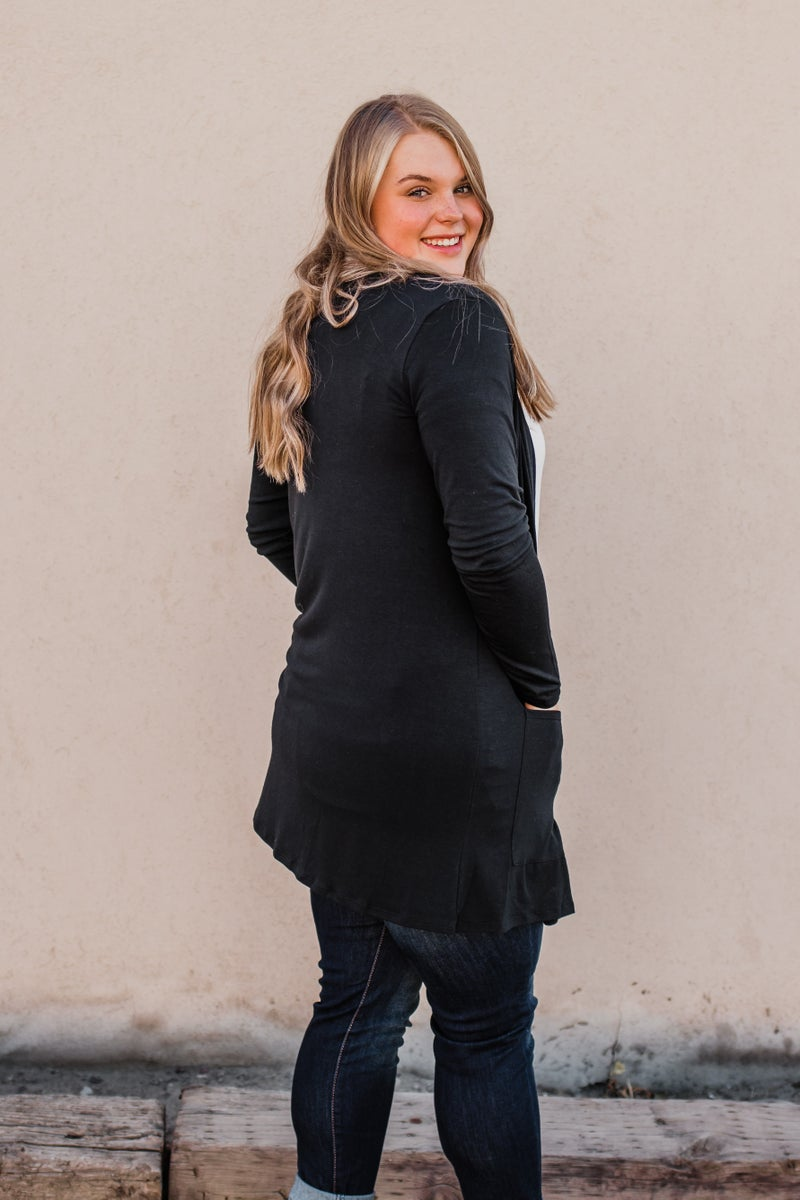 Solid Black Cardigan