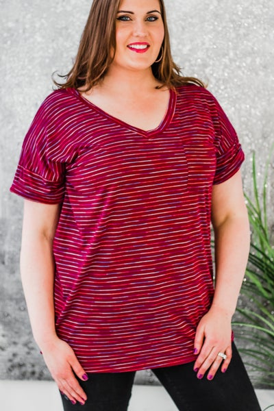 Plus Striped Shirt
