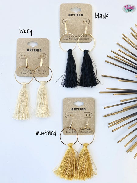 .Tassel Earrings
