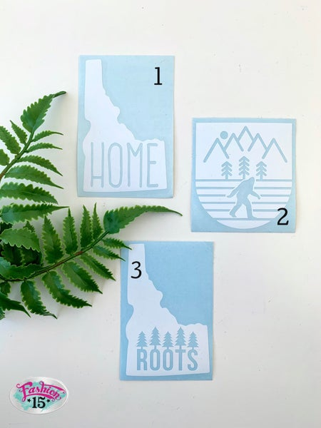White Outdoor Stickers