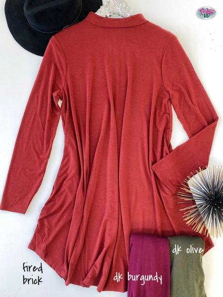 .Plus Mock Neck Dress *Final Sale*
