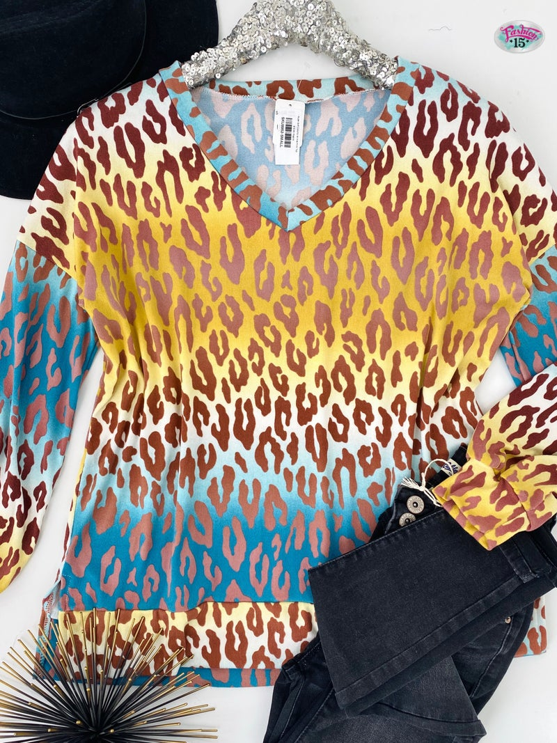 .~Super Soft Colorful Animal Print Top