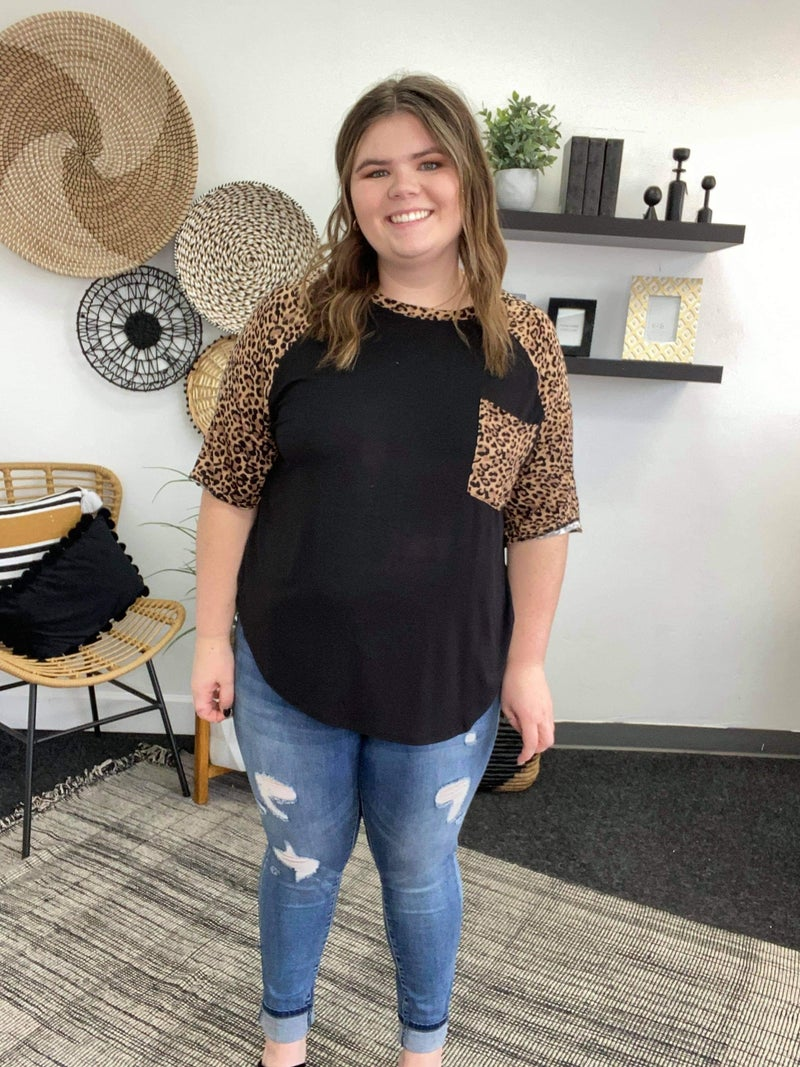 Plus Animal Print Top