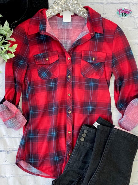 Red & Navy Plaid