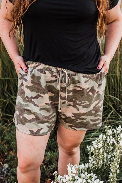 Plus Camo Shorts
