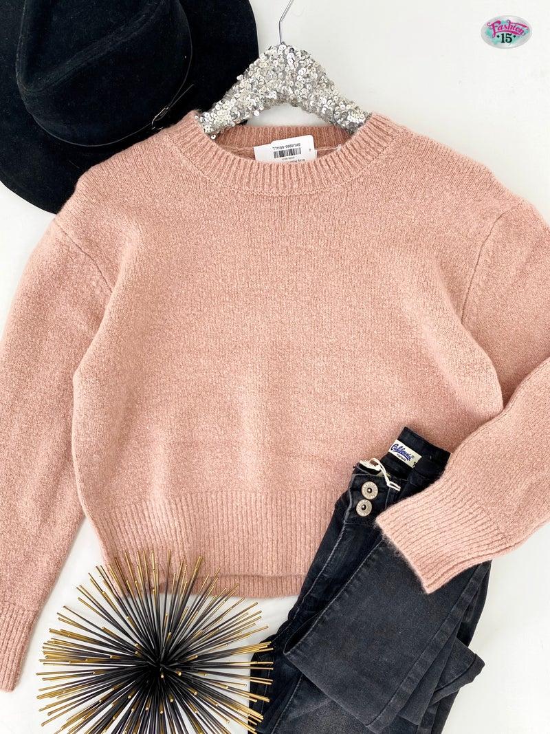 .Misty Rose Knit Sweater