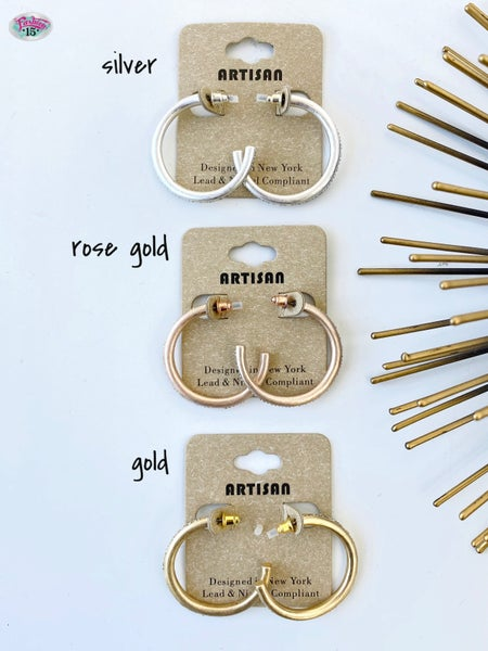 .Half Hoop Earrings