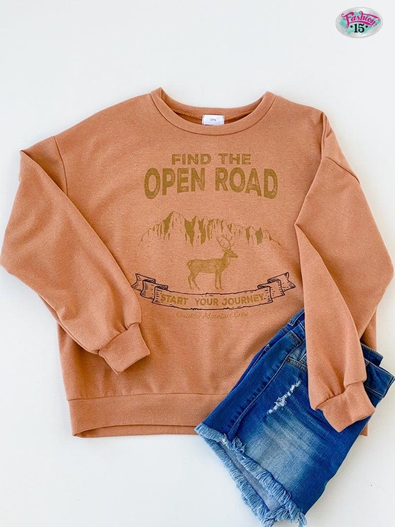 Open Road Graphic Sweatshirt