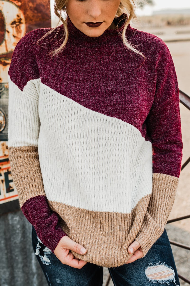 Color Block Ribbed Top