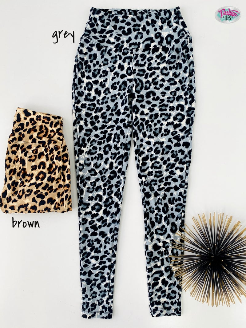 .Animal Print Leggings