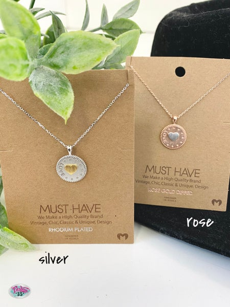 Circle & Heart Necklace
