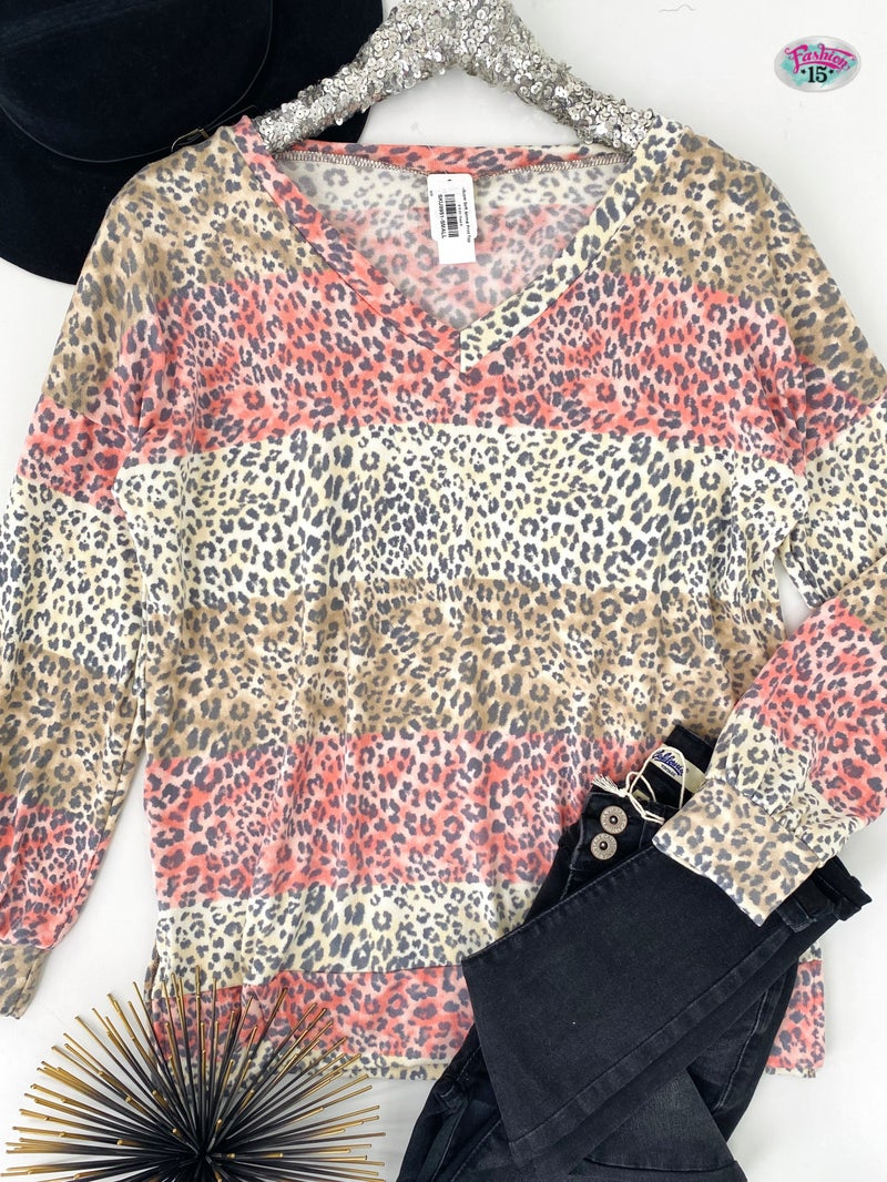 .~Super Soft Animal Print Top