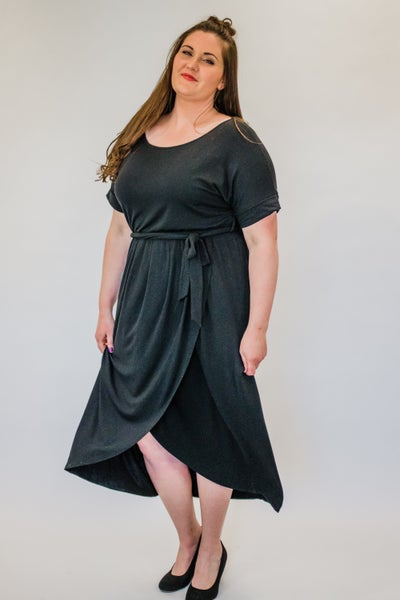 ~Black Tulip Hem Dress