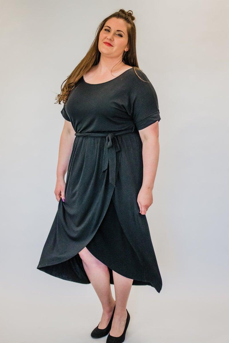~Black Tulip Hem Dress