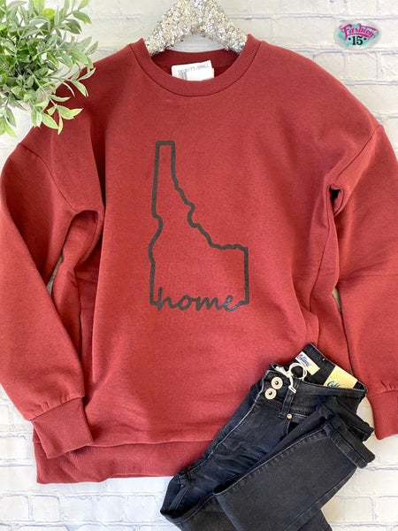 Brick Idaho Home Sweatshirt