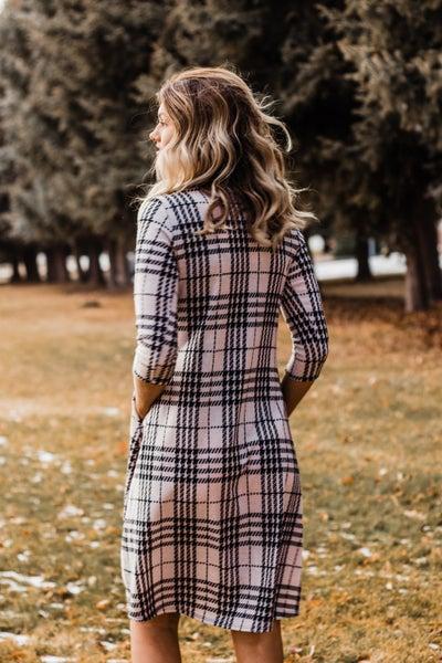 Plaid Midi Dress