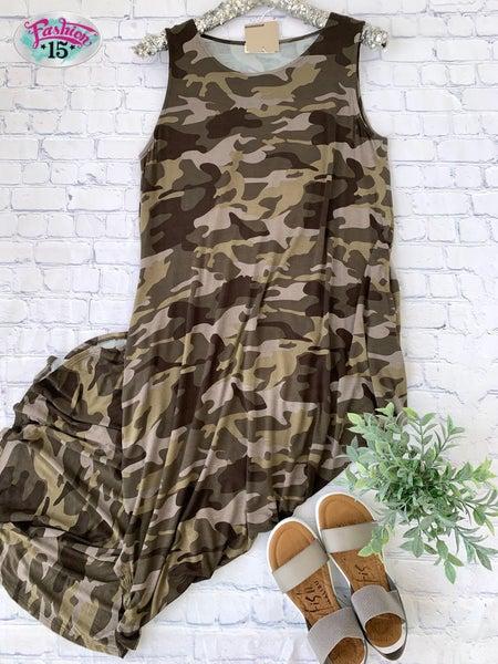 Plus Camo Dress